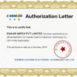 AUTHORISED DISTRIBUTOR LETTER (Cashino)